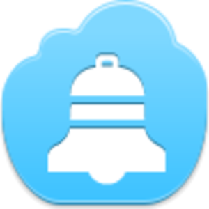Free Blue Cloud Christmas Bell Image