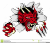 Cartoon Red Dragon Clipart Image