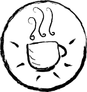 Coffee Cup Black And White Clip Art