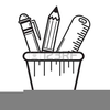Clipart Pencil Holder Image