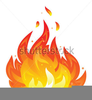 Flame Divided Line Clipart Image
