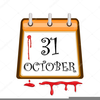 Bloody Halloween Clipart Image