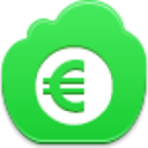 Free Green Cloud Euro Coin Image