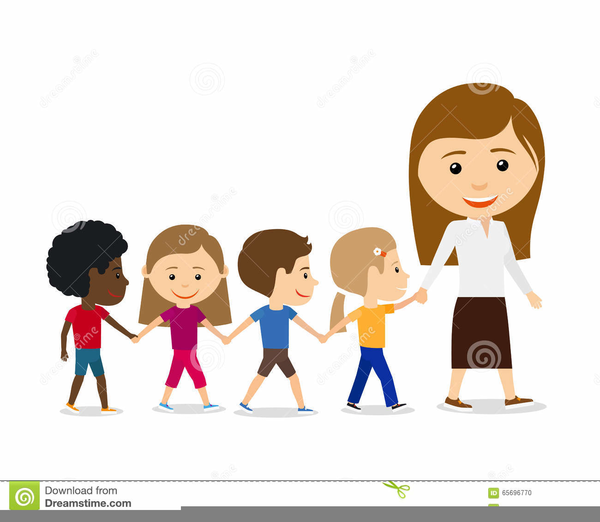 Vector Drawing Lines Kindergarten : Children walking in line clipart free images at clker