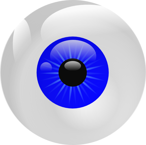 Eyeball Blue Clip Art at Clker.com - vector clip art online, royalty ...