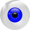 Eyeball Blue Clip Art