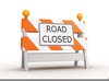 Road Closed Clipart Image