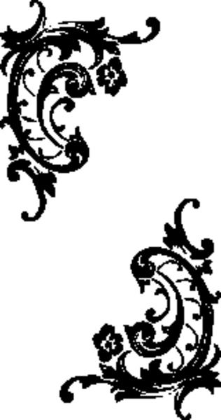 Baroque Scrolls   Free Images at Clker.com - vector clip art online ...