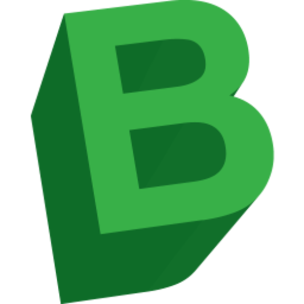 letter b icon free images at clkercom vector clip art