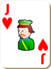 Joker Of Hearts Clip Art