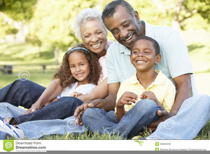African American Grandparents Clipart Image
