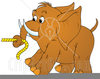 Elephant And Stake Clipart Image