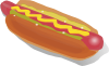 Hot Dog Sandwich  Clip Art