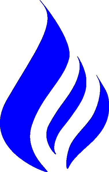 blue flame clip art at clkercom vector clip art online