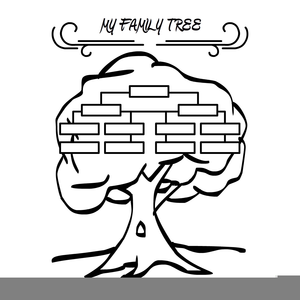 Family Tree Clipart Black And White Image