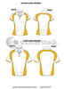 Stock Vector Woman And Man Sport Polo Shirt Vector Design Image