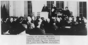 Secy. Of Labor Wilson Opening The Labor Conf. Called By The Pres. At Wash., D.c. Image