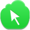 Free Green Cloud Cursor Arrow Image