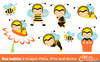 Free Cute Bee Clipart Image