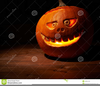 Scary Halloween Pumpkin Clipart Image