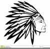 Indian Head Outline Clipart Image