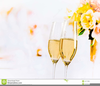 Wedding Champagne Flutes Clipart Image