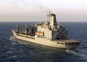 The Military Sea Lift Command (msc) Fleet Oilier Usns Pecos (t-ao 197) Underway Conducting Missions In Support Of Operation Iraqi Freedom. Image