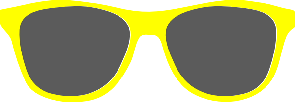 Yellow Sunglasses Sunshine Clip Art at Clker.com - vector clip art ...
