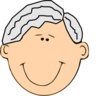 Grandfather Smiling Clip Art
