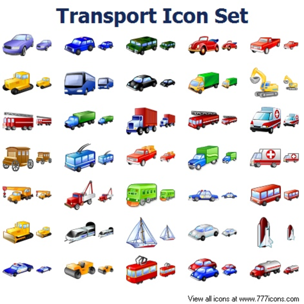 transport icon set free images at clkercom vector