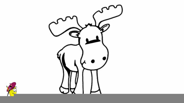 Baby Moose Clipart Free Images At Clker Com