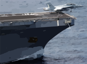 A F/a-18f Super Hornet Launches From The Bow Of Uss John C. Stennis (cvn 74). Clip Art