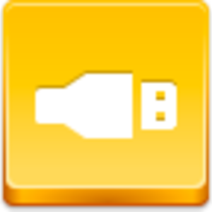 Free Yellow Button Usb Image