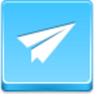 Free Blue Button Icons Paper Airplane Image
