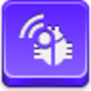 Free Violet Button Radio Bug Image