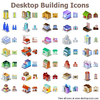 Desktop Building Icons Image