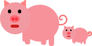Mother And Baby Piglet Clip Art
