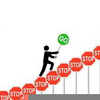 Overcoming Obstacles Clipart Image