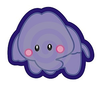 Cute Purple Elephant Image