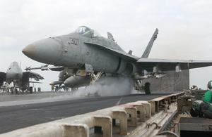 An F-18c Hornet Assigned To The Vigilantes Of Strike Fighter Squadron One Five One (vfa-151) Image