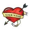 Free Heart Tattoo Clipart Image