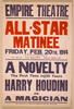 A Novelty, The First In 20 Years, Harry Houdini As A Magician Image