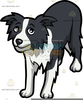 Border Collie Cartoon Clipart Image