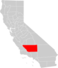California County Map Kern County Highlighted Clip Art