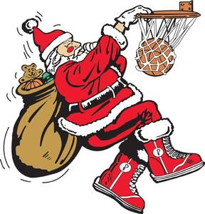Santa Playing Basketball Clipart | Free Images at Clker ...