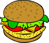 Fast Food Lunch Dinner Ff Menu Clip Art
