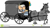 Amish Horse And Buggy Clipart Image