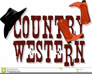 Country Western Wedding Clipart Image
