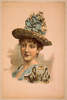 [head-and-shoulders Image Of Brunette Woman, Facing Right, Wearing Large Blue Hat] Image