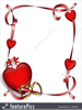 Hearts And Ribbons Clipart Image